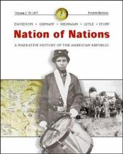 Cover of: Nation of Nations Vol. I w/ Interactive E-Source CD; MP