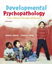 Cover of: Developmental Psychopathology