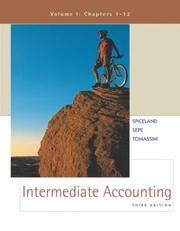 Cover of: Intermediate Accounting Volume 1 with Coach CD-ROM & PowerWeb