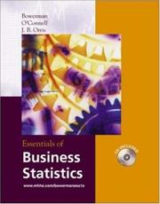 Cover of: Essentials of Business Statistics with Student CD-ROM