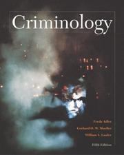 Cover of: Criminology with Making the Grade Student CD-ROM and PowerWeb