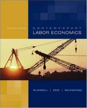 Cover of: Contemporary Labor Economics