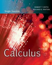 Cover of: Calculus, Single Variable
