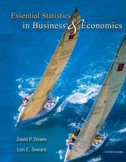 Cover of: Essential Statistics in Business and Economics with St CDRom (Irwin/McGraw-Hill Series in Operations and Decision Sciences)