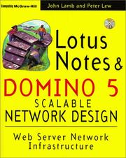 Cover of: Lotus Notes and Domino 5 Scalable Network Design
