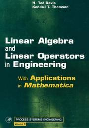 Cover of: Linear Algebra and Linear Operators in Engineering