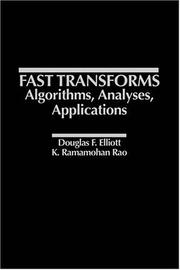 Cover of: Fast Transforms Algorithms, Analyses, Applications