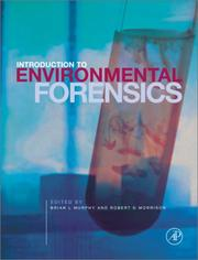 Cover of: Introduction to environmental forensics