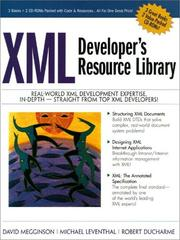 Cover of: XML Developer's Resource Library