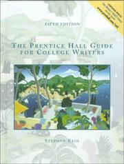 Cover of: Prentice Hall Guide for College Writers, Full Edition with Handbook