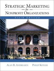 Cover of: Strategic Marketing for NonProfit Organizations (6th Edition)