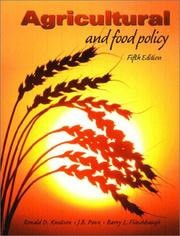 Cover of: Agricultural and Food Policy, Fifth Edition