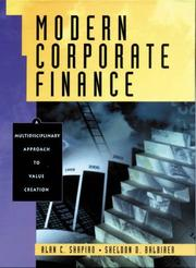Cover of: Modern Corporate Finance