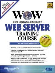 Cover of: WOW World Organization of Webmasters Web Server Training Course