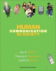 Cover of: Human Communication in Society