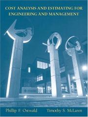 Cover of: Cost Analysis and Estimating for Engineering and Management