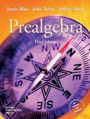 Cover of: Prealgebra (3rd Edition) (Tobey/Slater Developmental Math Series)