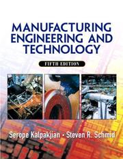Cover of: Manufacturing, Engineering & Technology (5th Edition)