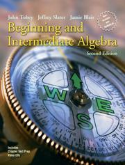 Cover of: Beginning and Intermediate Algebra (2nd Edition) (Tobey/Slater Wortext Series)