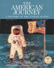 Cover of: The American Journey, Vol. 2, Third Edition