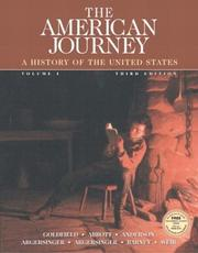 Cover of: The American Journey, Vol. 1, Third Edition