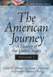 Cover of: The American Journey Portfolio Edition, Vol. I