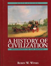 Cover of: History of Civilization, A