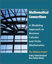 Cover of: Mathematical Connections
