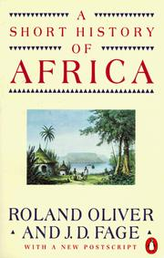 Cover of: A short history of Africa