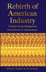 Cover of: Rebirth of American Industry
