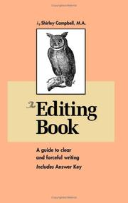 Cover of: The Editing Book
