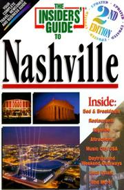 Cover of: The Insiders' Guide to Nashville, Second Edition