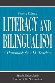 Cover of: Literacy and Bilingualism