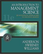 Cover of: Introduction to Management Science