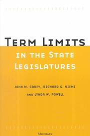 Cover of: Term Limits in State Legislatures