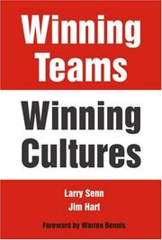 Cover of: Winning Teams--Winning Cultures