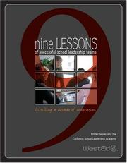 Cover of: Nine Lessons Of Successful School Leadership Teams
