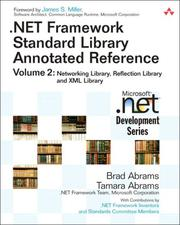 Cover of: .NET Framework Standard Library Annotated Reference, Volume 2