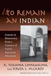 Cover of: To Remain an Indian