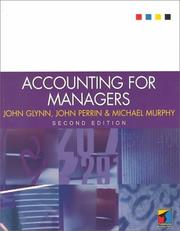 Cover of: Accounting for Managers