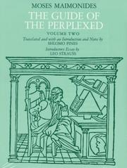 Cover of: The Guide of the Perplexed, Vol. 2