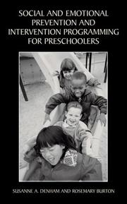 Cover of: Social and Emotional Prevention and Intervention Programming for Preschoolers