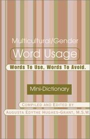 Cover of: Multicultural/Gender Word Usage