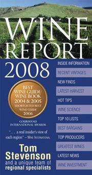 Cover of: Wine Report 2008 (Wine Report)