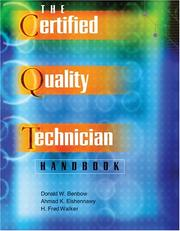 Cover of: The Certified Quality Technician Handbook