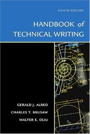 Cover of: The Handbook of Technical Writing, Eighth Edition (Handbook of Technical Writing Practices)
