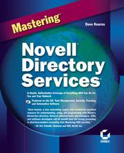 Cover of: Mastering Novell Directory Services