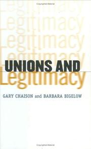Cover of: Unions and Legitimacy