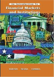 Cover of: An Introduction to Financial Markets and Institutions