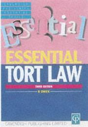 Cover of: Tort Law (Essentials Series)